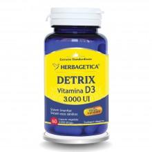 Detrix Vitamina D3 3000 UI 60 capsule  Herbagetica