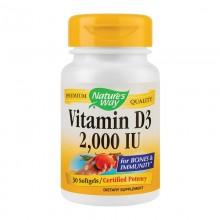 Vitamina D3 2000 UI Nature's Way 30 capsule Secom