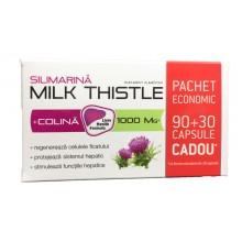 Silimarina + Colina Milk Thistle 1000 mg 90 + 30 capsule Natur Produkt